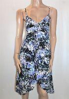 JAY JAYS Brand Blue Multi V Neck Sleeveless Day Dress Size 8 BNWT #TC67