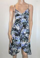 JAY JAYS Brand Blue Multi V Neck Sleeveless Day Dress Size 8 BNWT #TC67