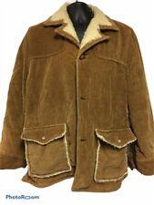 Envoy Mens The Now Winter Jacket Camel Corduroy Flap Pockets Fleece Lined  L