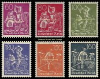 EBS Germany 1921 Workers - Blacksmiths Miners Farmers - Michel 165-170 MNH**