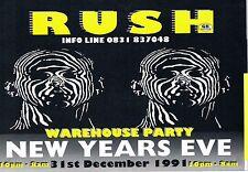RUSH Rave Flyer Flyers 32/12/91 A5 Abbot Street London E8