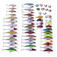 56pcs/set Mix Fishing Lure HENGJIA Minnow Lures Hard Bait Crankbait Bass Tackle