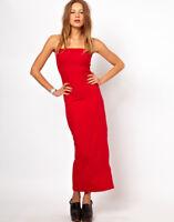NWT American Apparel Jersey Tube Maxi Dress -CHILLI RED -BLACK -COBALT BLUE