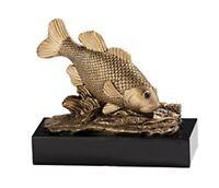 Massiver Resin-Pokal Fisch ST39592 gold (H x B=14 x 15 cm) inkl.Gravur 19,95 EUR