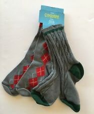 Nwt Gymboree Holiday Classics 2T-3T Gray Cable Knit & Argyle Socks 2-3 Years