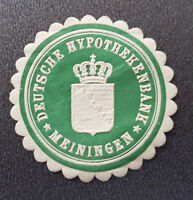 Siegelmarke Vignette DEUTSCHE HYPOTHEKENBANK MEININGEN (8098-3)