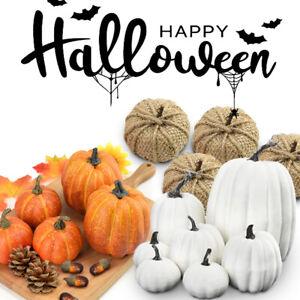 Large Mini Artificial Pumpkin Props Harvest Halloween Decorations Outdoor Decor