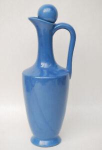Vintage Matte Blue Decanter - Fiesta, McCoy, Bauer, California Pottery
