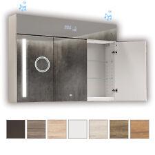 Spiegelschrank LED Badschrank Badezimmerschrank 100x72 3-türig Spiegel