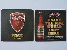 Budweiser Enjoy Fifa World Cup 2014 Here Beermat Coaster