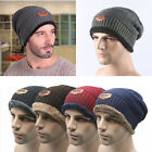 Unisex Men's Women's Knit Wool Baggy Cap Winter Warm Hip-hop Beanie Crochet Hat