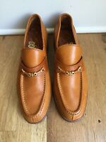 NEW SEBAGO Men's Gold Buckle Loafers Size 11.5 Tan Brown