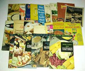 Vintage Cookbook Recipe Booklet Lot of 20 1930s-60s Calvert Calumet Kraft & More