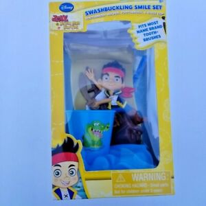 Jake and The Neverland Pirates Smile Set with Toothbrush/Holder/Rinse Cup NEW