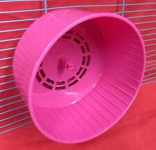 Hamster Rueda Silenciosa Clip En Rosa Enano HAMSTER RATONES JERBO 6inch silencioso de plástico