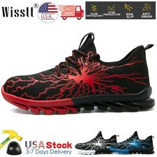 Men's Safety Work Shoes Indestructible Steel Toe Boots Lightweight Sneakers US 9