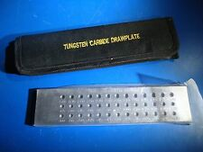 DRAWPLATE 39 Round Holes 0.26 - 2.80mm with Case Tungsten Carbide Hardened Steel