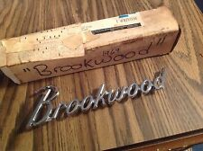 1969 1970 1971 1972 Chevrolet Stationwagon Brookwood NOS  rear fender script