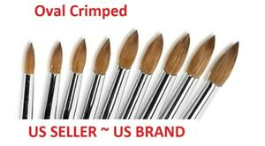 Jargod 100% Pure Kolinsky Acrylic OVAL CRIMPED Nail Art Brush