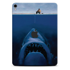Skins Decal Wrap for Apple iPad Pro 11 2018 Jaws Great White Under Boat