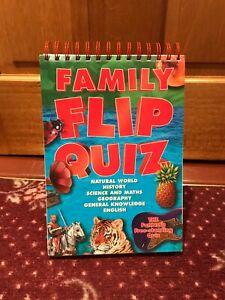 Family Flip Quiz: General Knowledge Questions, Puzzles, Hardback Flip book