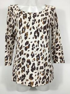 ATTITUDES BY RENEE ANIMAL PRINT KNITTED TUNIC TOP JUMPER SWEATER SIZE SMALL NWOT