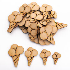 Wooden MDF Shapes Crafts Ice Cream Embellishments Scrapbook Decoration