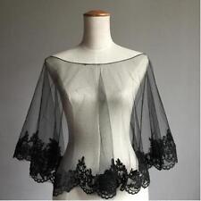 New Black  White  Ivory Wedding Dress Shrugs Bolero Wrap Jacket Coat Shawl