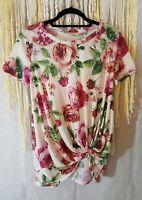 Viamor floral knit top size M