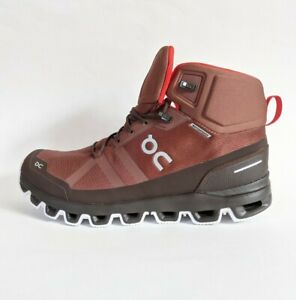 ON Running Cloudrock Waterproof Sz 10, 11 or 12.5 Mid Boots Hiking/Trail Cocoa