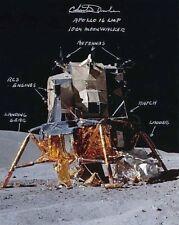 Apollo 16 Signed & Annotated Charlie Duke 8x10 Photo Lunar Module