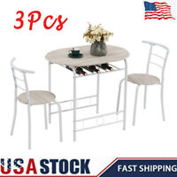 3Pcs/Set Dining Table + 2 Chairs Set Kitchen Breakfast Desk Stool Home Furniture