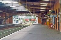 PHOTO  GRIMSBY TOWN RAILWAY STATION LINCOLNSHIRE 1997 VIEW WESTWARD TOWARDS BARN