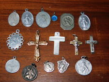 LOT VINTAGE medaille MARIE vierge MARIA old MEDAL jesus christ saint CROIX jc