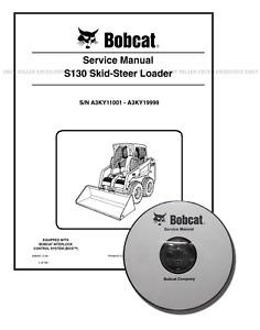 Bobcat S130 Skid Steer Workshop Repair Service Manual CD + Download 6986565
