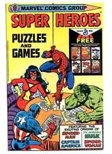 Super Heroes Puzzles and Games VF Generall Mills Promotion Marvel Comics SA