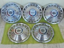 "1963 Ford Hub Caps 14"" Set of 5 Wheel Covers 63 Hubcaps"