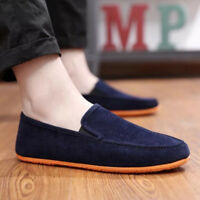 Men Casual Canvas Suede Shoes Dress Formal Oxfords Slip-on Flats Loafer Sneakers