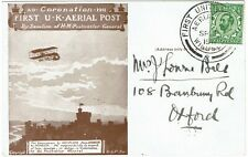 Great Britain 1911 First Uk Aerial Post Windsor cancel on commemorative card