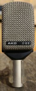 AKG D12E Vintage 70's Cardioid Dynamic Microphone - Original Box & Clip - A+++
