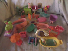 """Doll House Furniture Dresser 4"""" 3"""" Tub Bed  Misc. Parts Toys"""