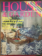 HOUSE & GARDEN MAGAZINE MAY 1976 *CREATE YOUR OWN WONDERFUL WAY TO LIVE*