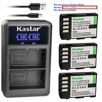 Kastar Battery LCD Dual Charger for Panasonic DMW-BLF19 BLF19 DMC-643 Battery