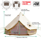 4 Season Camping Bell Tent Cotton Canvas Stove Jacket 13.1ft Yurt Tent Family