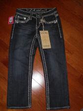 LA IDOL  BLING Capri JEANS  Size 0  Cuff or Uncuff  W26 L22 DARK Wash NEW W/TAGS