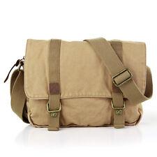 Neue Canvas Herren Schultertasche Messenger School Bag Handtasche Laptoptasche