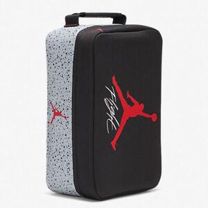 Nike Air Jordan Shoe Box Bag 9B0388-KG5 Black Cement Grey Red NWT Jumpman Flight