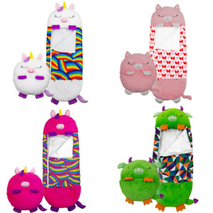 Happy Nappers Sleeping Bag Kids Boys Girls Play Pillow Unicorn Dogs Dragons Cats
