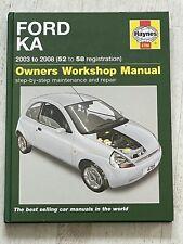 Haynes Manual 4786 - Ford KA, 2003 to 2008