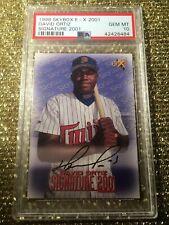 David Ortiz 1998 Skybox E-X 2001 MLB Signature Rookie Auto Autograph PSA 10